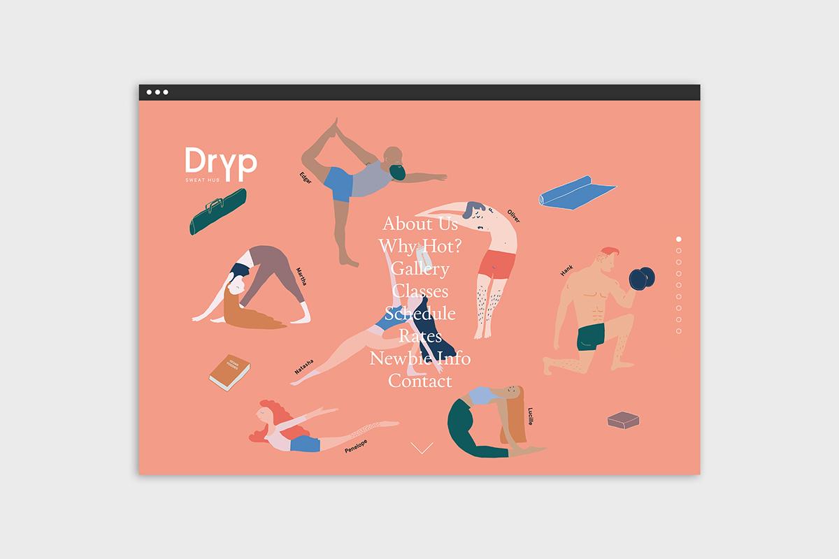 Yoga fitness Health dubai juice Invitation business card Character feminist female