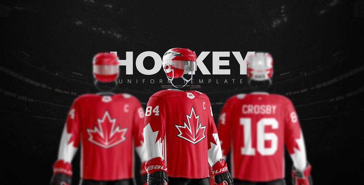 Hockey Jersey Template   Ice Hockey Uniform Template On Pantone Canvas Gallery