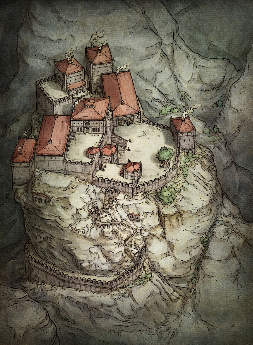 D&D Dwarven Stronghold Illustration