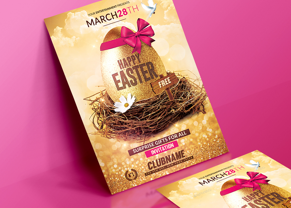Happy Easter | Flyer Psd Template on Behance