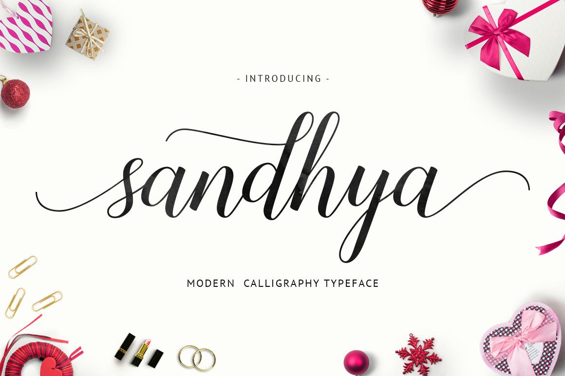 Sandhya Script Free Font On Behance