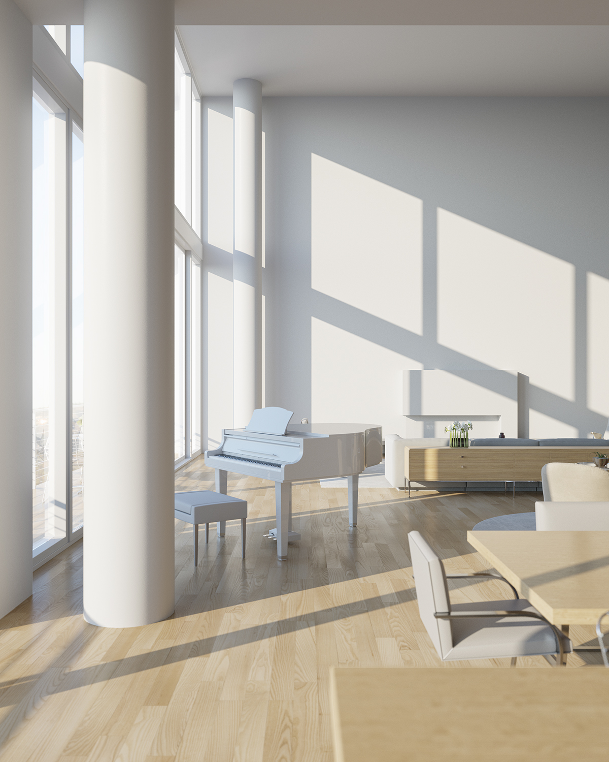 penthouse interior rendering beverly hills ca on behance