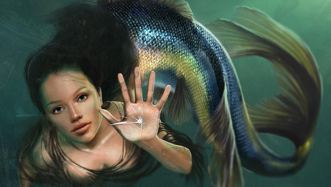 mermaid sirena blue deepdown mermaidgirl beautifulgirl characterdesign digitalart DIGITALDRAWING DigitalIllustration
