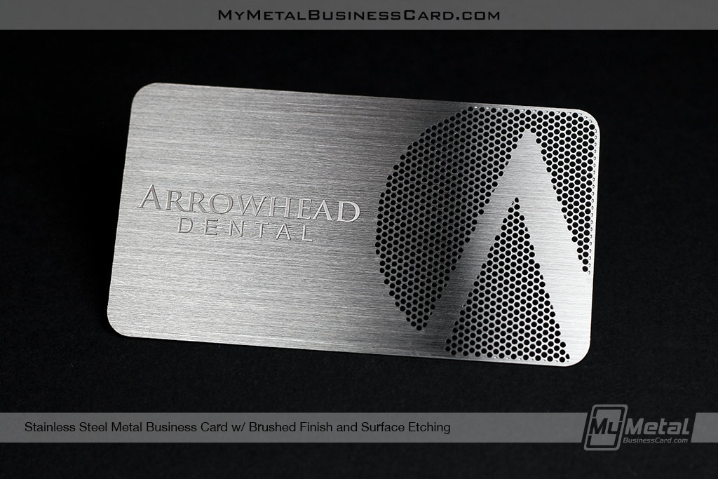 Brushed Stainless Steel Business Cards on Behance