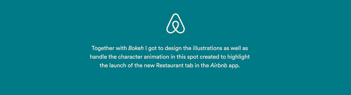 2D,line art,Character design ,flat,character animation,airbnb,Food ,restaurant,loop