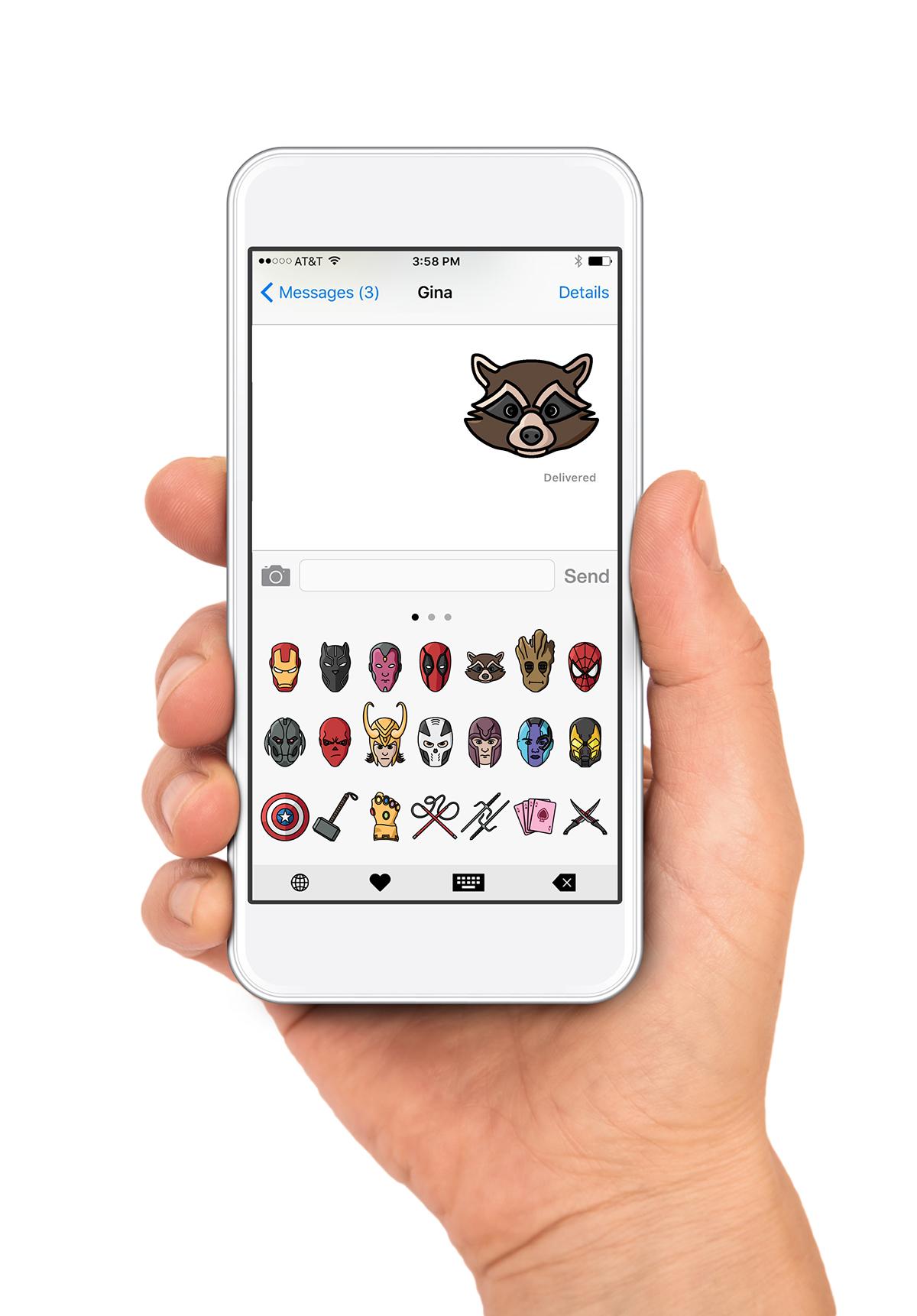 Marvel Emoji Set on Behance