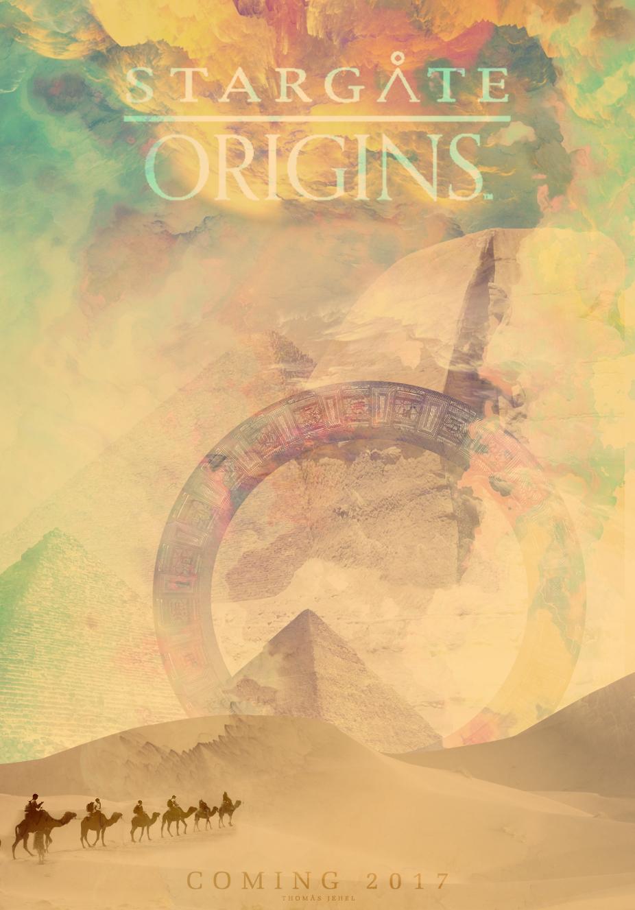 stargate origins stargate poster SGA sgu pyramid desert Serie