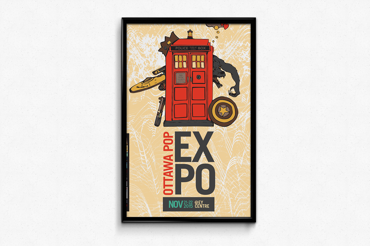 2015 Ottawa Pop Expo | Poster Design on Behance