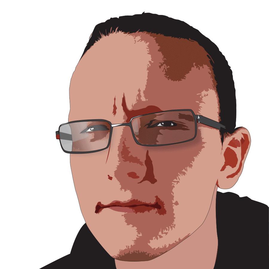 vector portrait colour