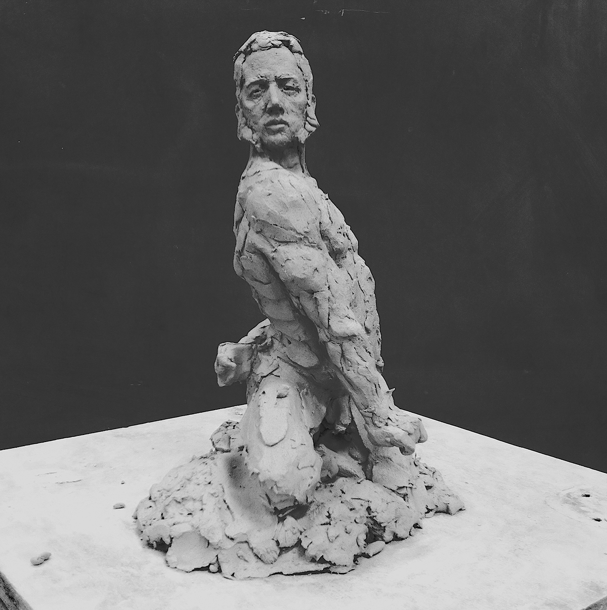 sculpture clay Side Burns model male nude