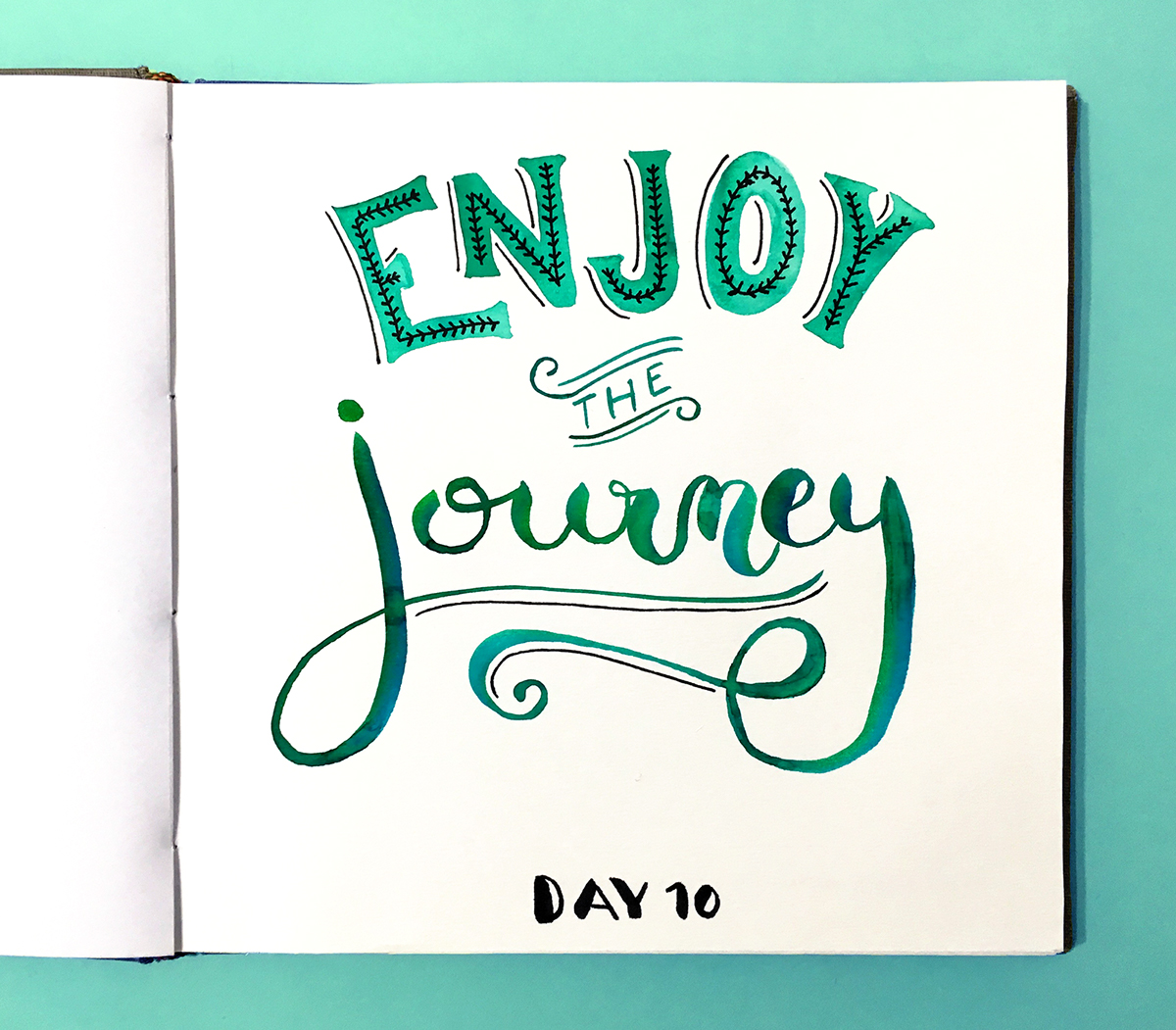 lettering,handmade,watercolor,ink,challenge,instagram,social network,Practice,typography  ,ILLUSTRATION