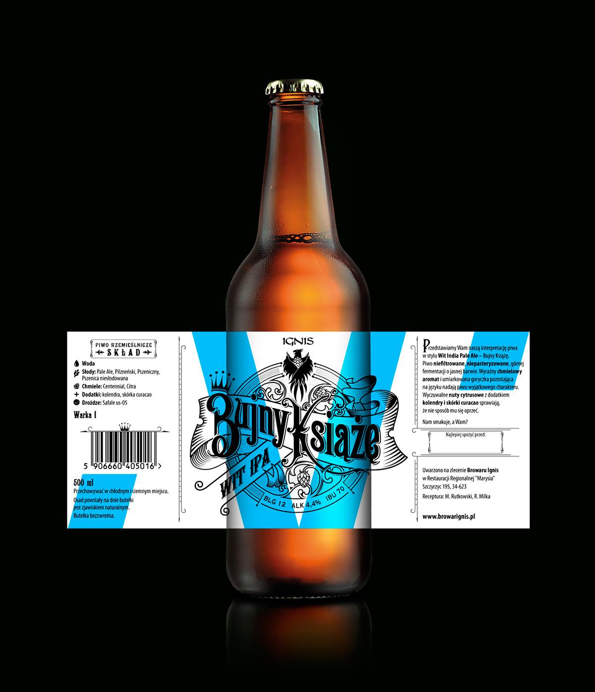 Polish handlettered craft beer labels on Behance – Beer Label