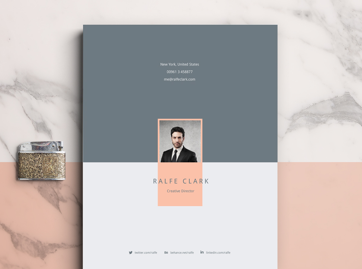 Best free resume templates on behance clever resume template pronofoot35fo Images