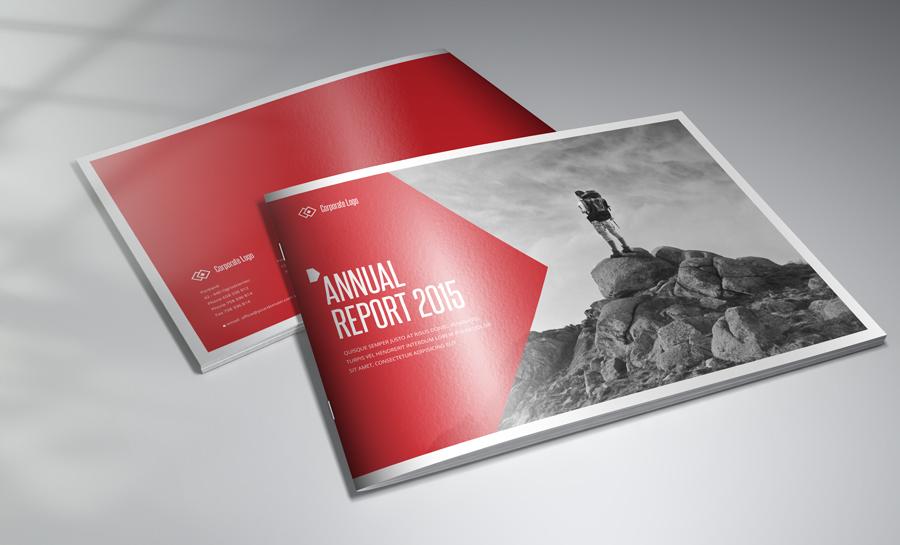 Photorealistic horizontal brochure mock up on behance for Horizontal brochure design