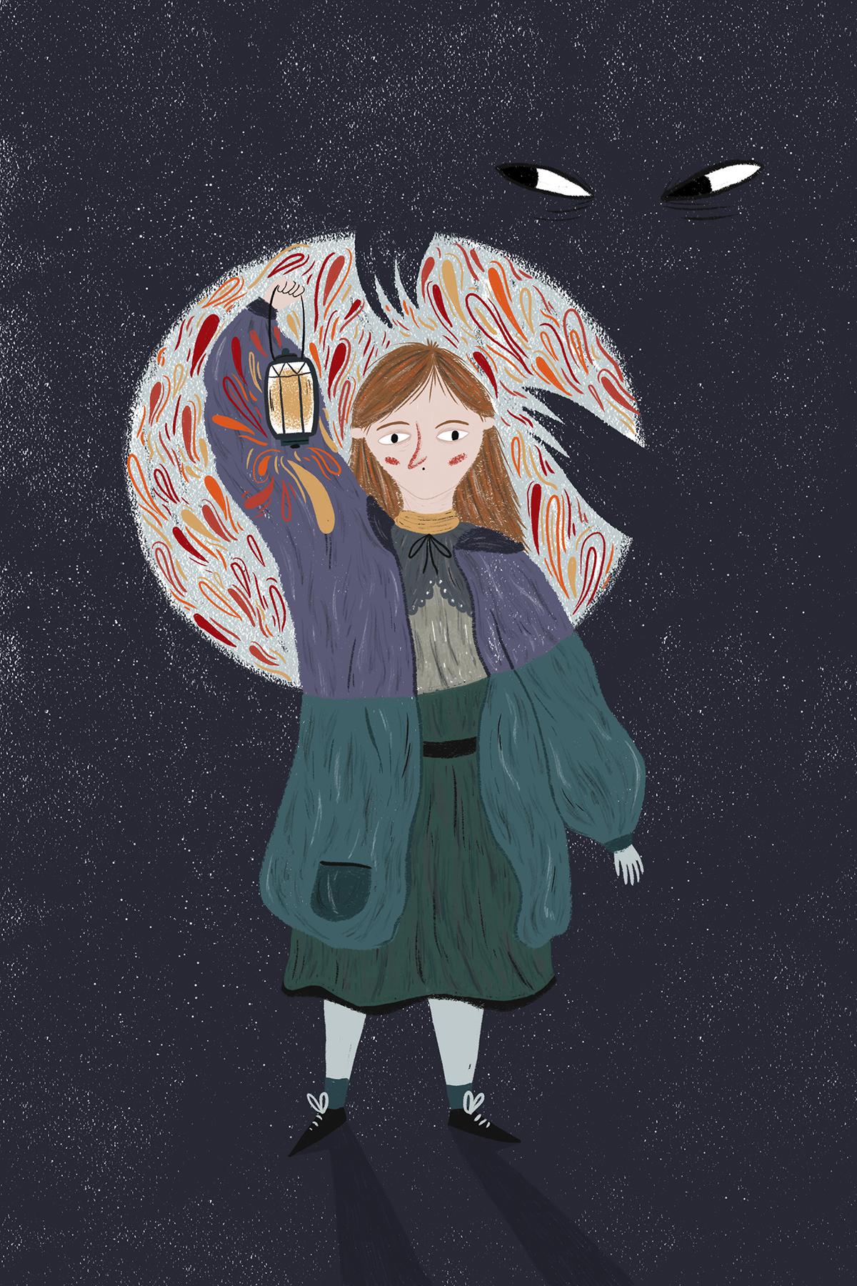 mitos rurais ilustrada gerador Lobisomem Bruxa wolf witch paul