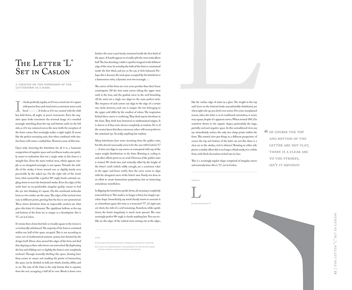 Dada Caslon spread type typography