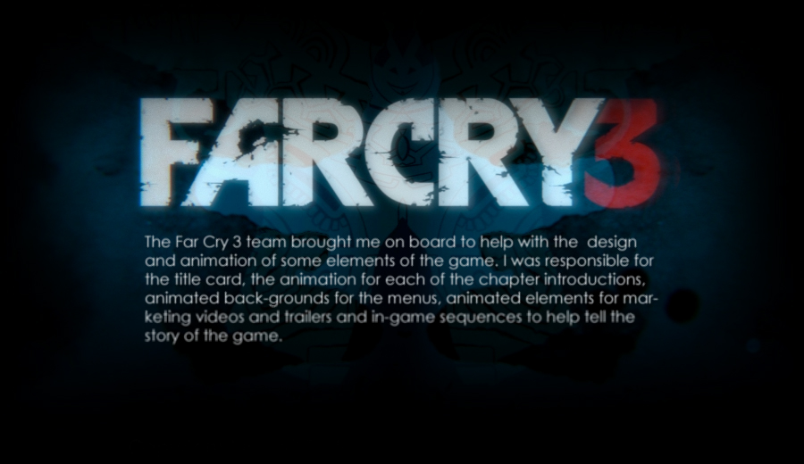 Far Cry 3 Motion Design On Behance
