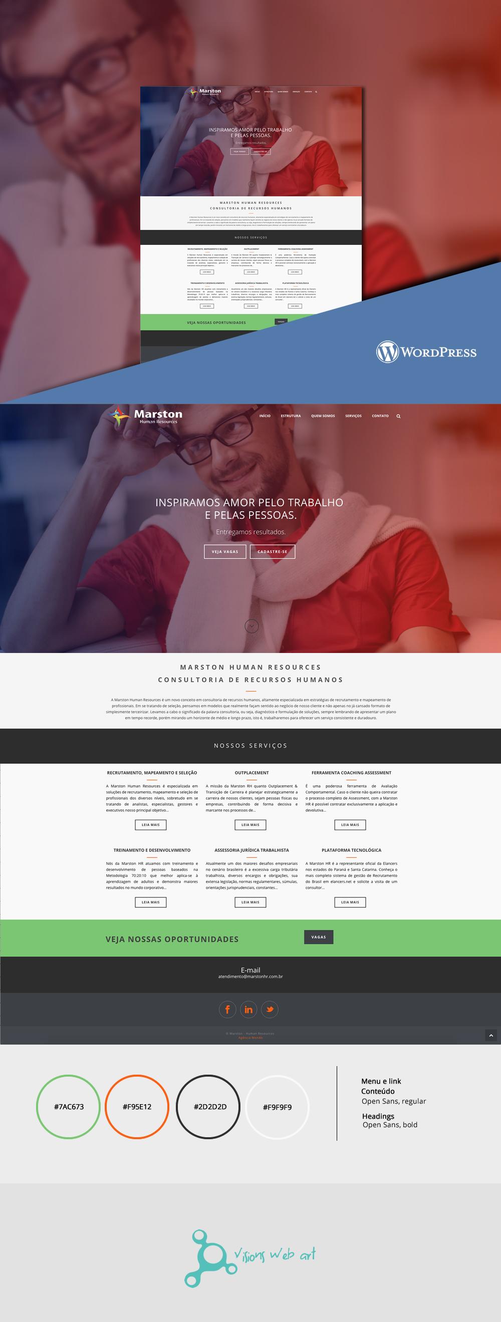 wordpress wp Responsive ux UI blue design Web designer site