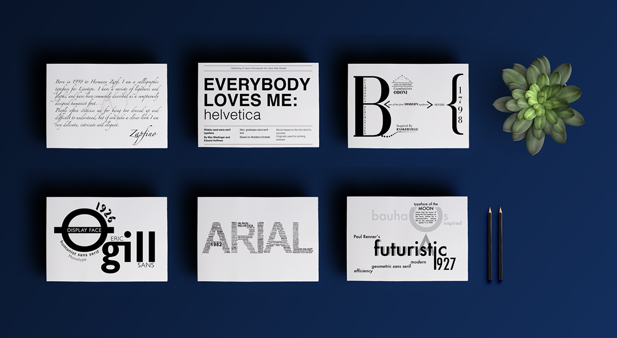 Type Postcards on Wacom Gallery