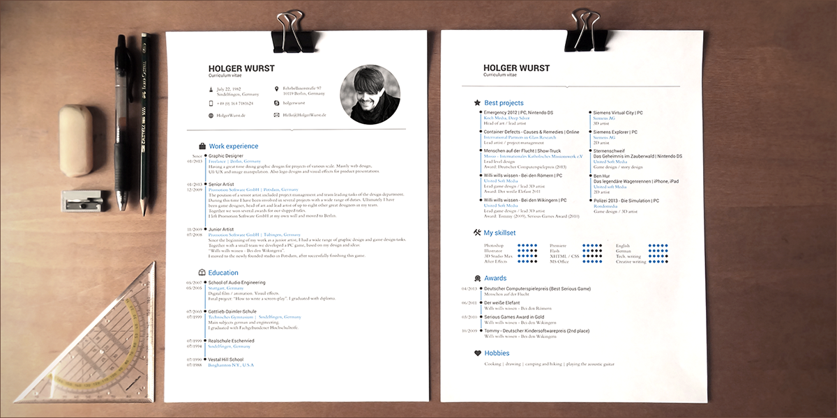 Cv resume cover letter template psdai on behance download download yelopaper Image collections