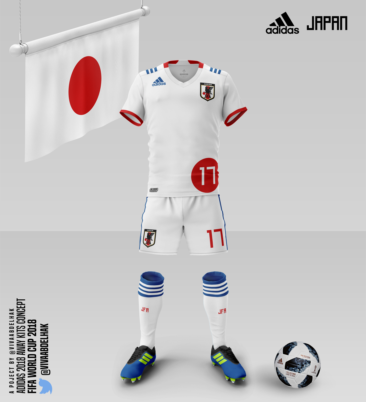 best sneakers 252f7 ff63a Adidas World Cup 2018   Away Kits Concept . on Behance