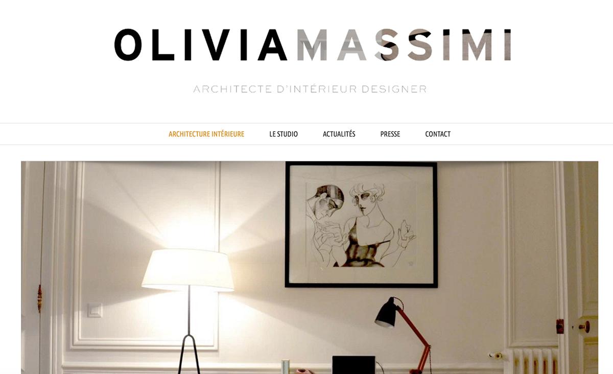 Logo Cartes De Visite DOLIVIA MASSIMI Architecte Dintrieur Designer