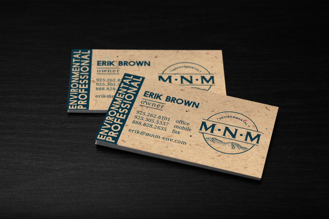MNM Environmental Business cards and logo on Behance