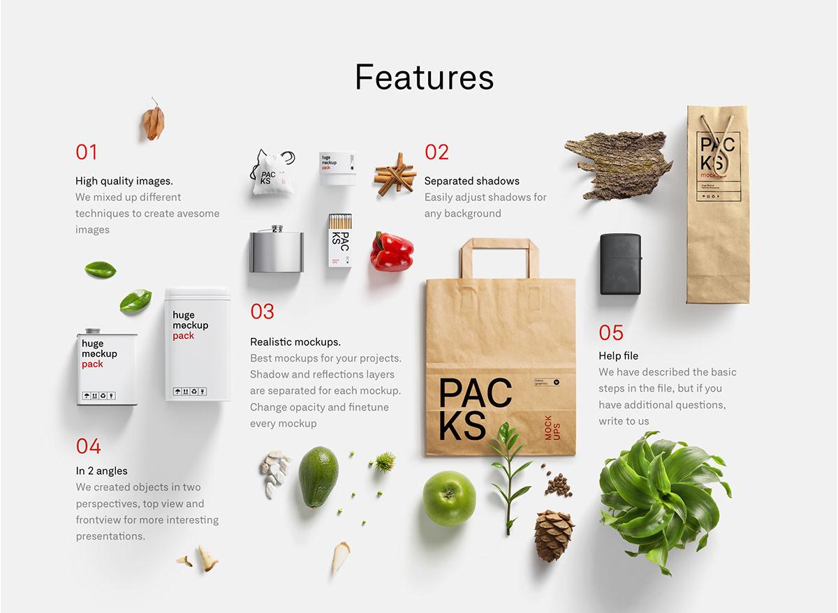 Branding Presentation Kit: Packs Mockups on Student Show