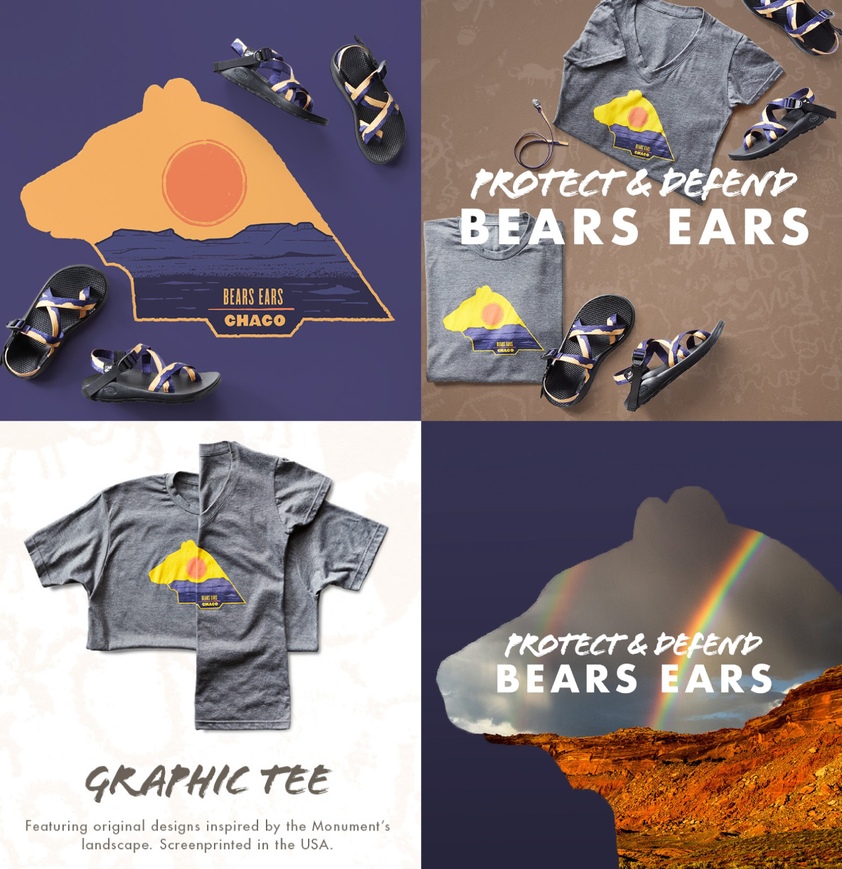 74ca6826f164 ... t-shirt and sandal with 100% of the proceeds going to The Defense of Bears  Ears. I worked with them to create their iconic and limited edition graphic.