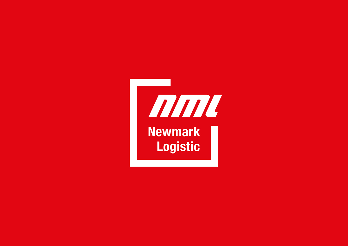 shipping logo Logo Design logistic red box corporate image identity brand Logotype business card Stationery lettering brand identity