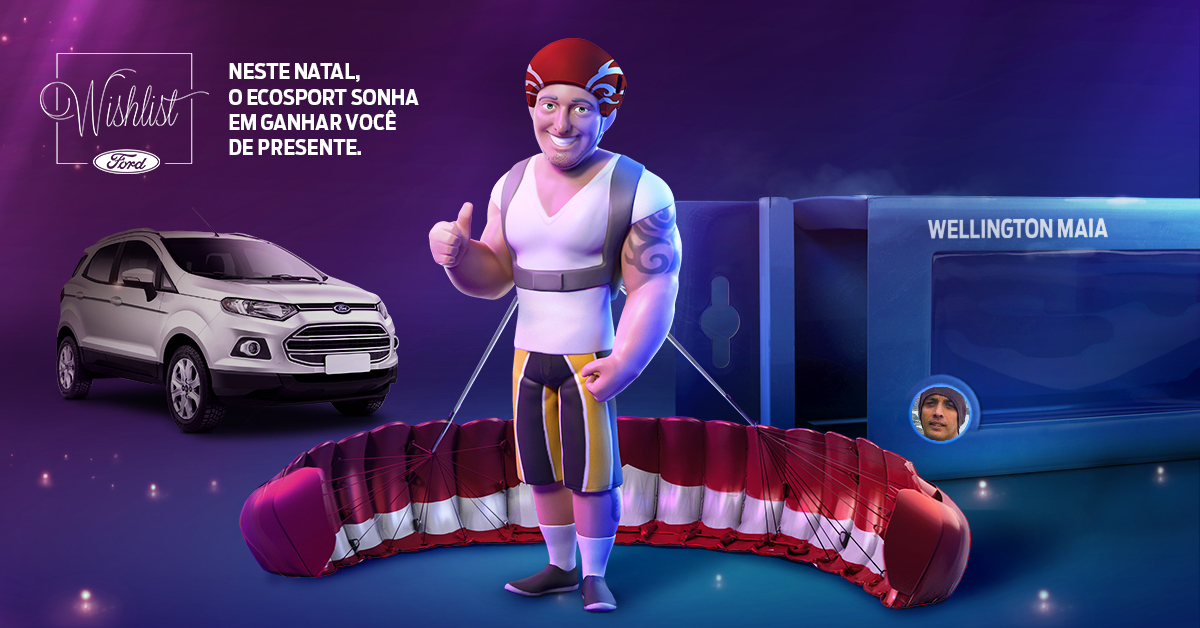 Ford automotive   social posts facebook wishlist Christmas gift surprise interactive