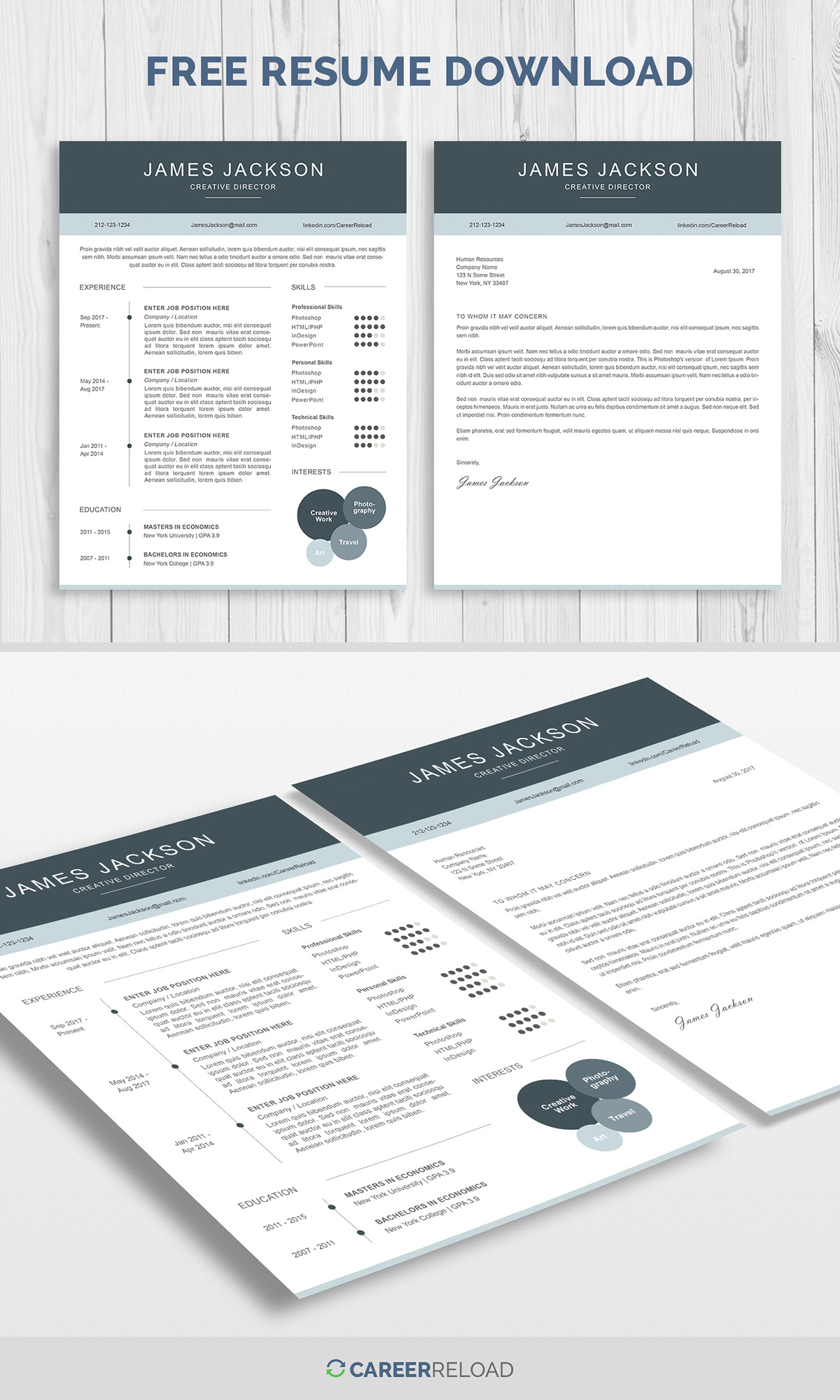 Free Resume Template And Cover Letter On Pantone Canvas Gallery