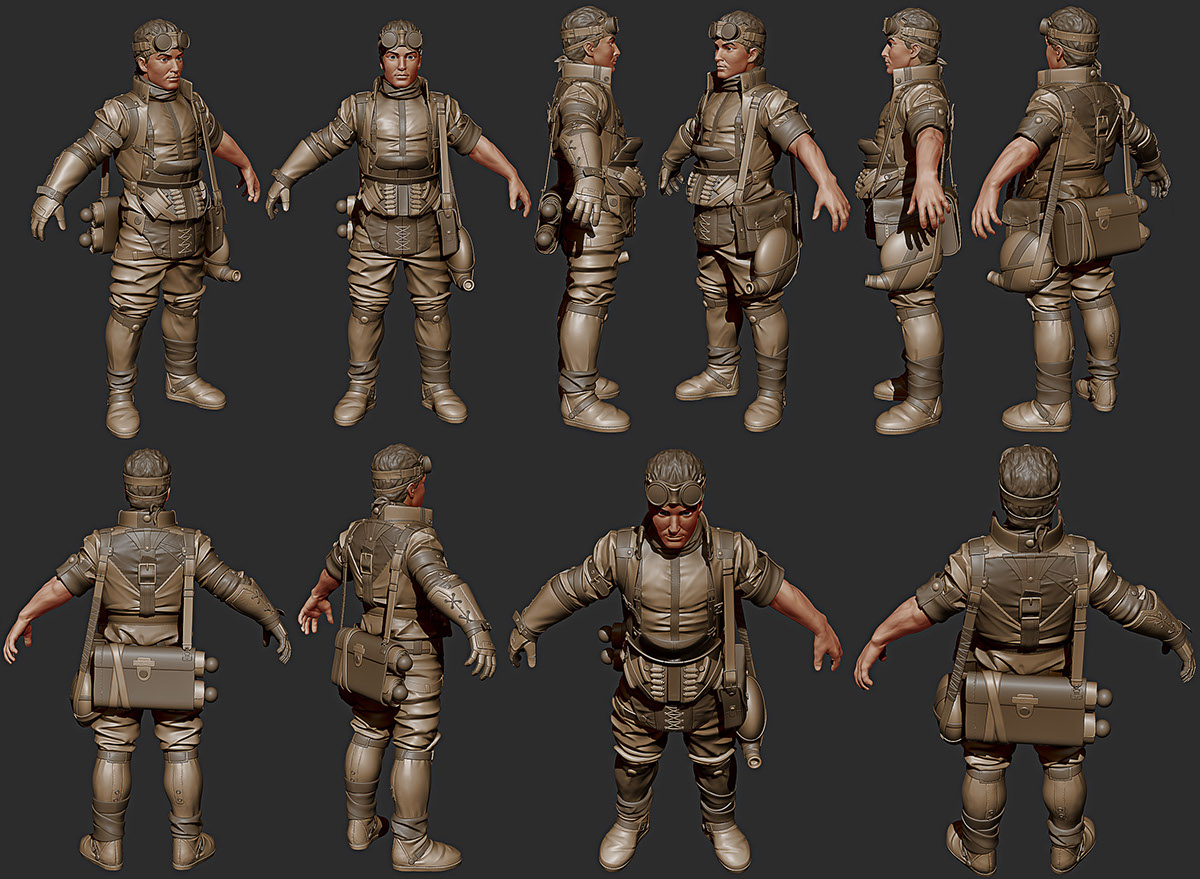 mid-poly 3d-character fantasy