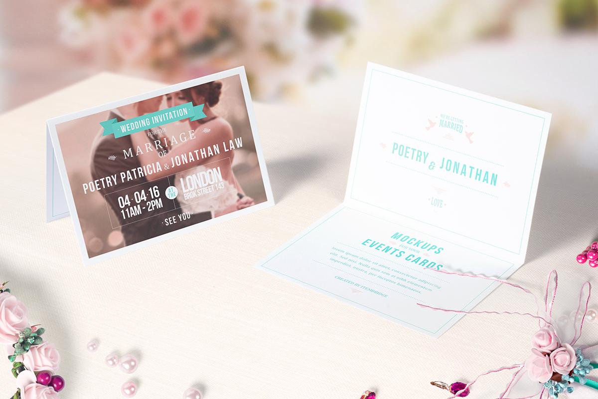 Invitation Greeting Card Mockups On Behance