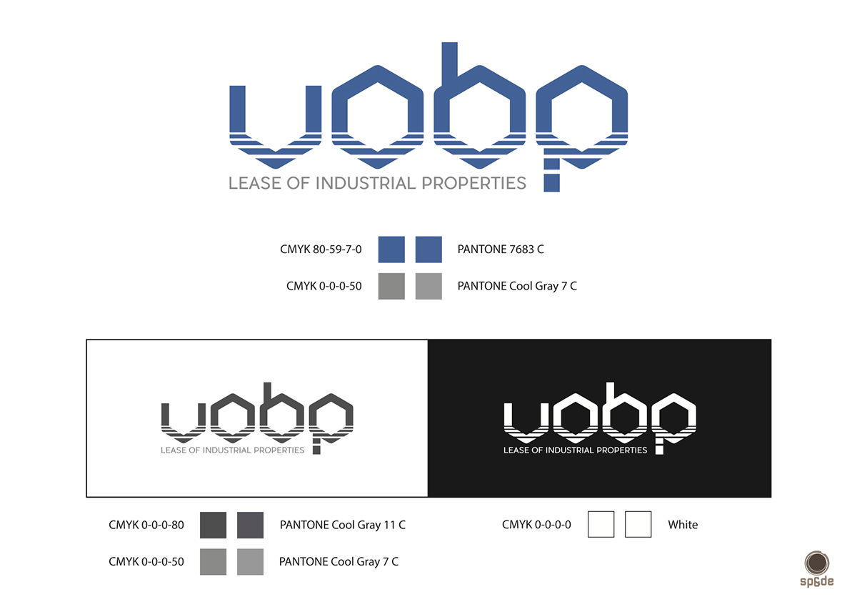 Logotype logo real estate liepaja VOBP