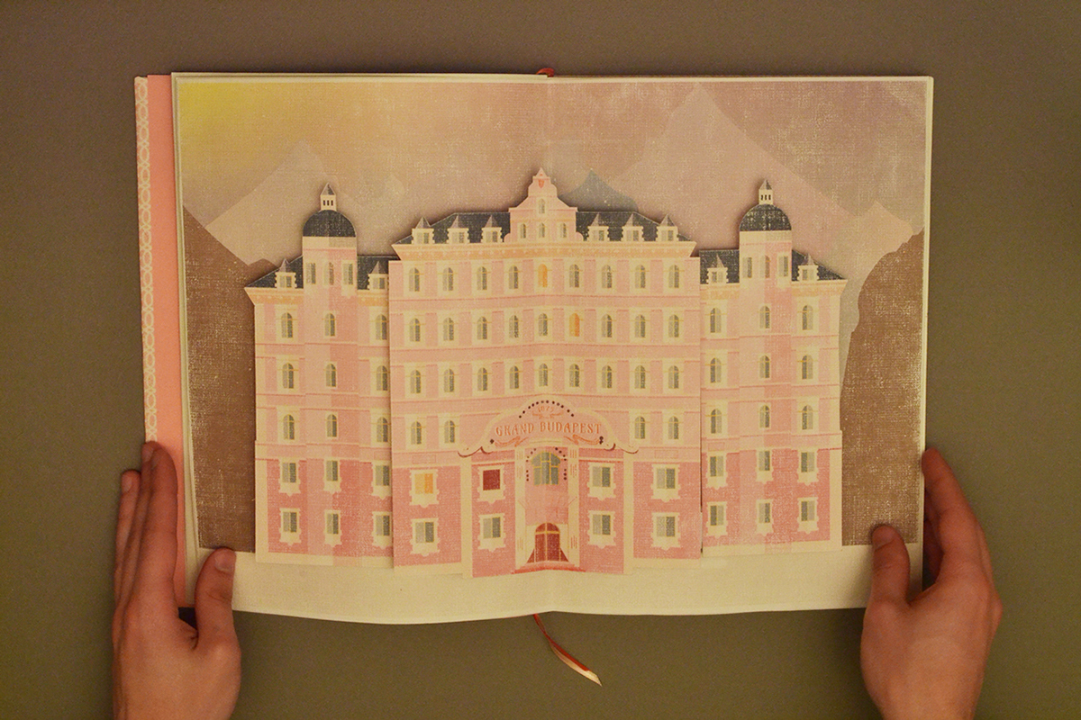 titulos title sequence grand budapest hotel wes anderson paper art Gabriele cinetica fadu uba crafts paper Tittles
