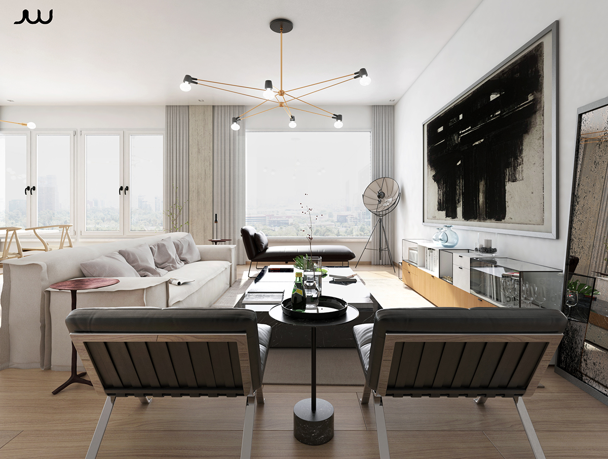 Central park view new york apartment cgi on behance for Siti di interior design