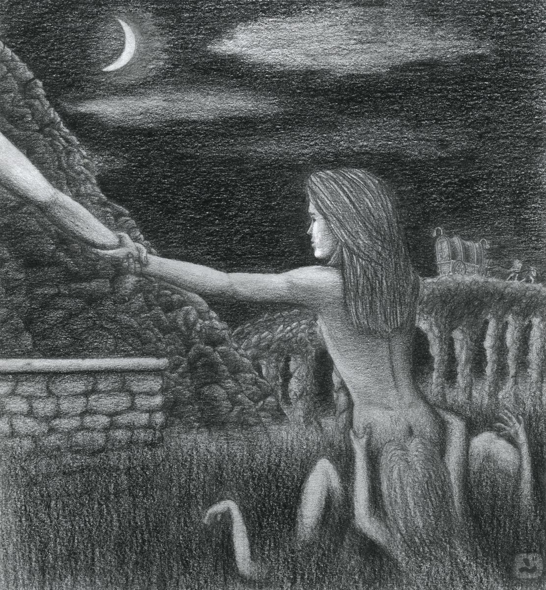graphite fantasy Drawing