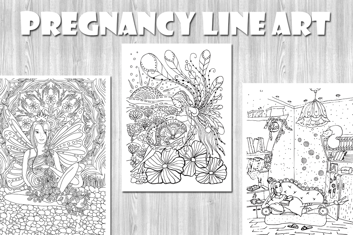 Pregnancy Line Art Coloring Pages on Behance