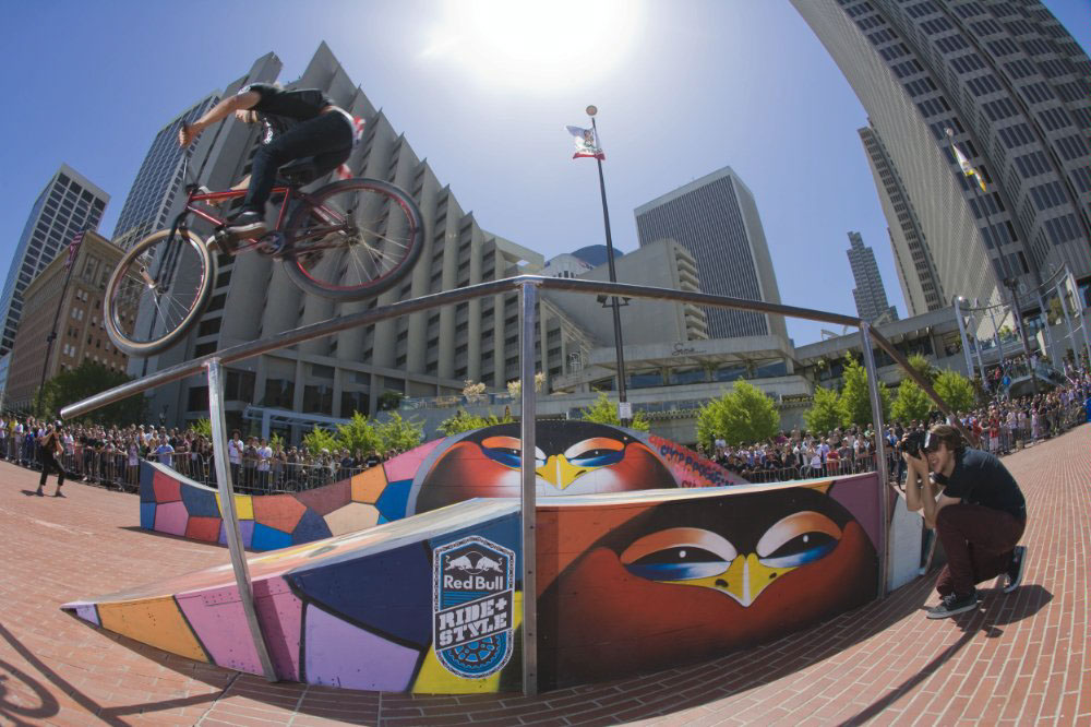 Red Bull Ride+Style artist fixed gear Bike san francisco