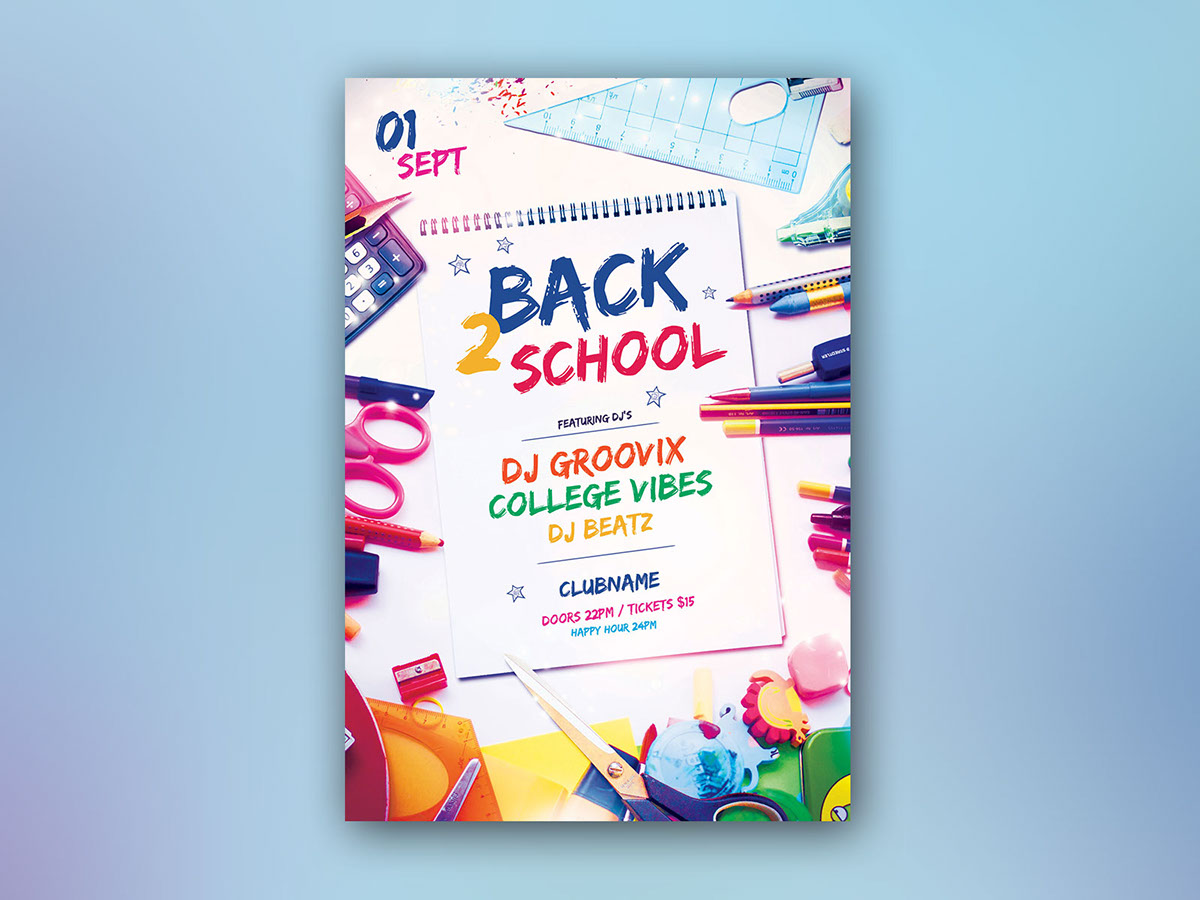 Back 2 School Flyer On Behance