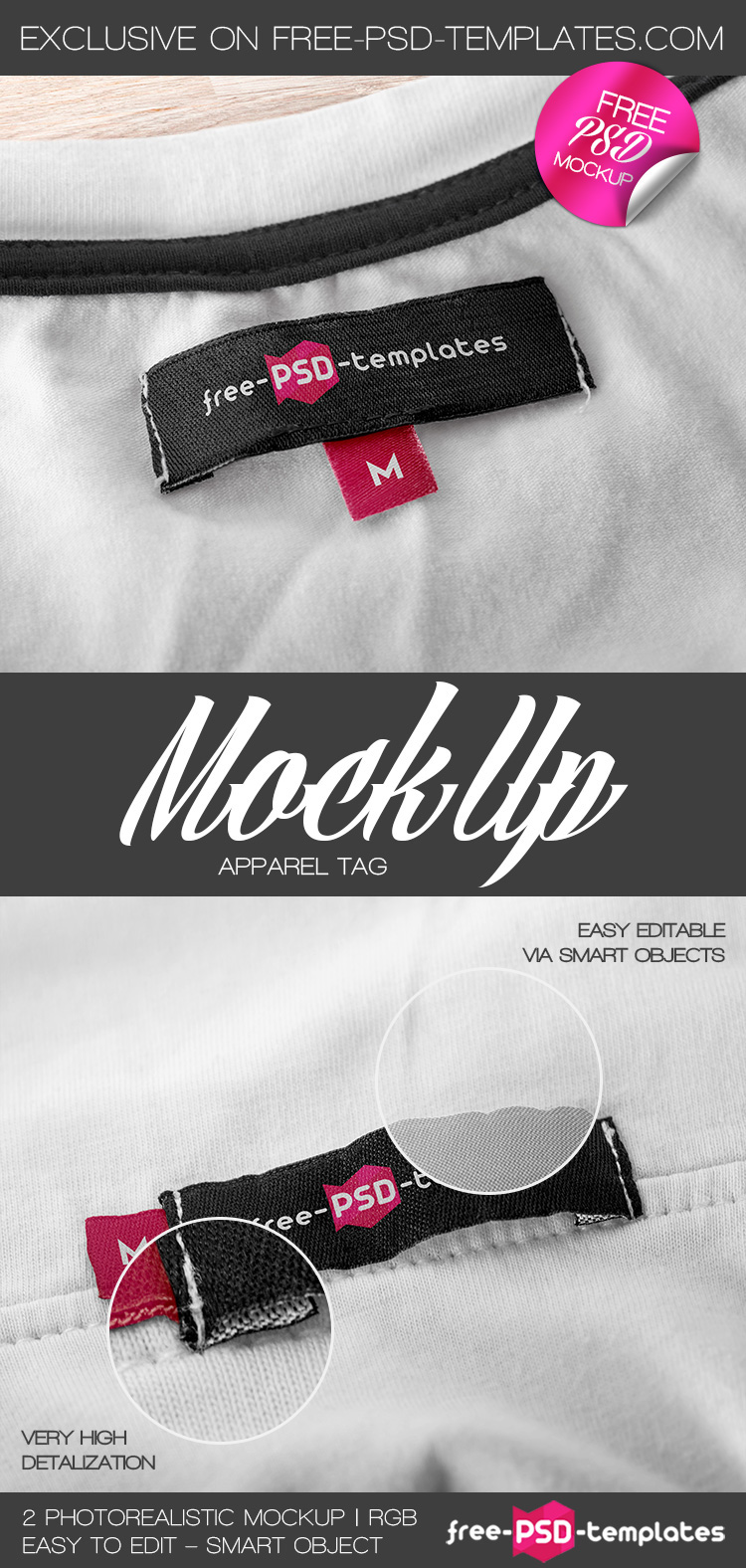 2 Free Apparel Tag Mock-up in PSD on Behance