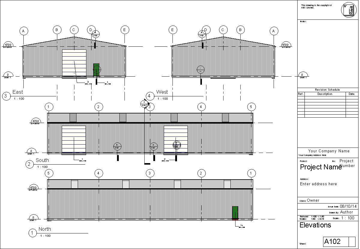 Revit Elevation Key Plan : Malcolm smith warehouse revit
