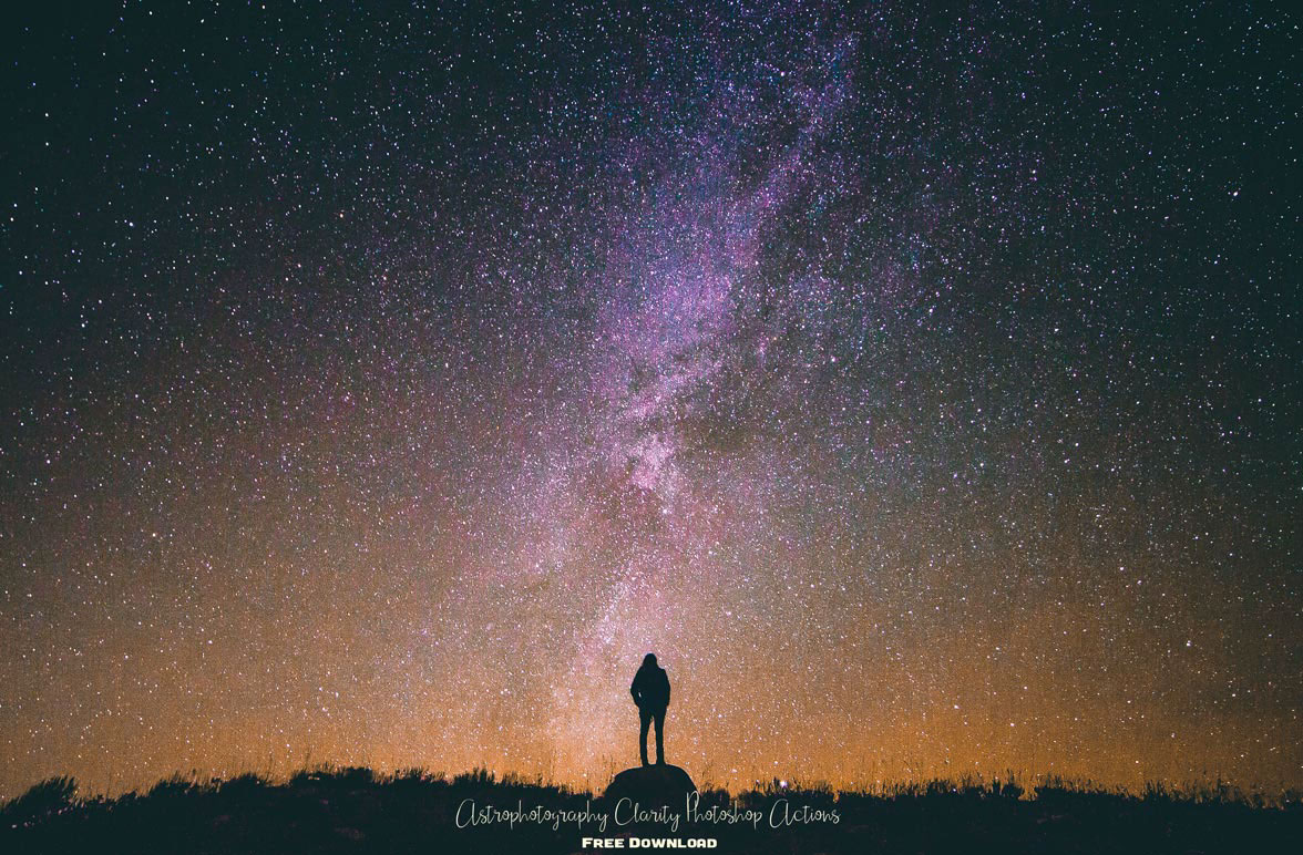 Astrophotography Photoshop Actions : Free Download on Behance
