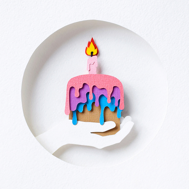 Miraculous Birthday Cake Paper Art On Behance Personalised Birthday Cards Paralily Jamesorg