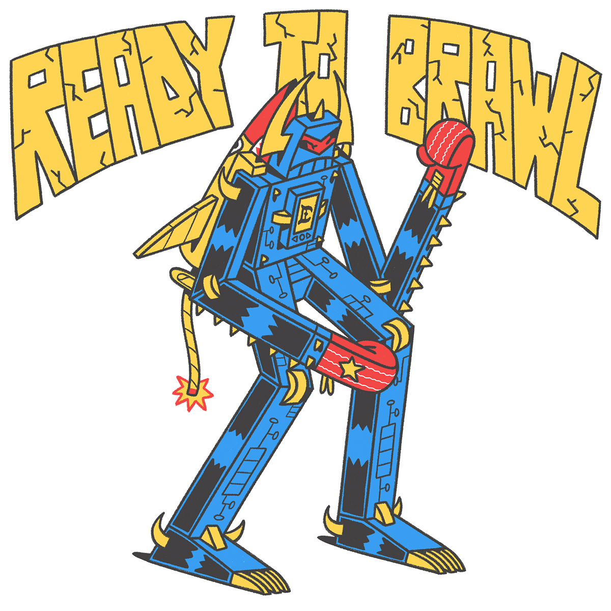 Cracklez graphic design  graphics ILLUSTRATION  illustrations photoshop poster robots t-shirt tshirt
