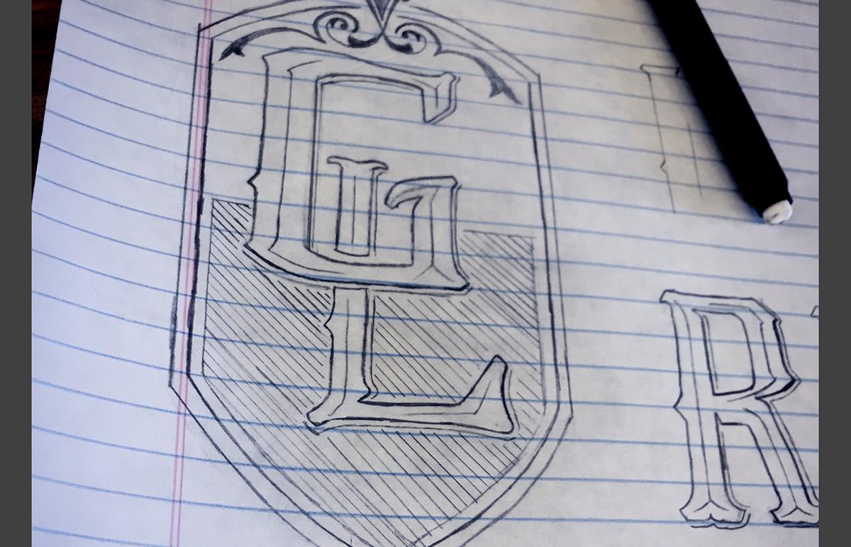 graphic design  Logotype hand letter Crossfit logo