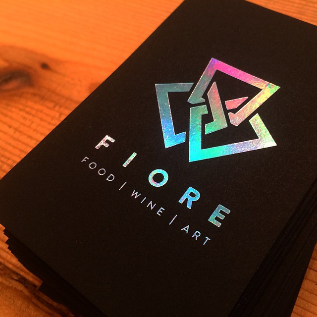 Holographic foiled business cards on behance colourmoves