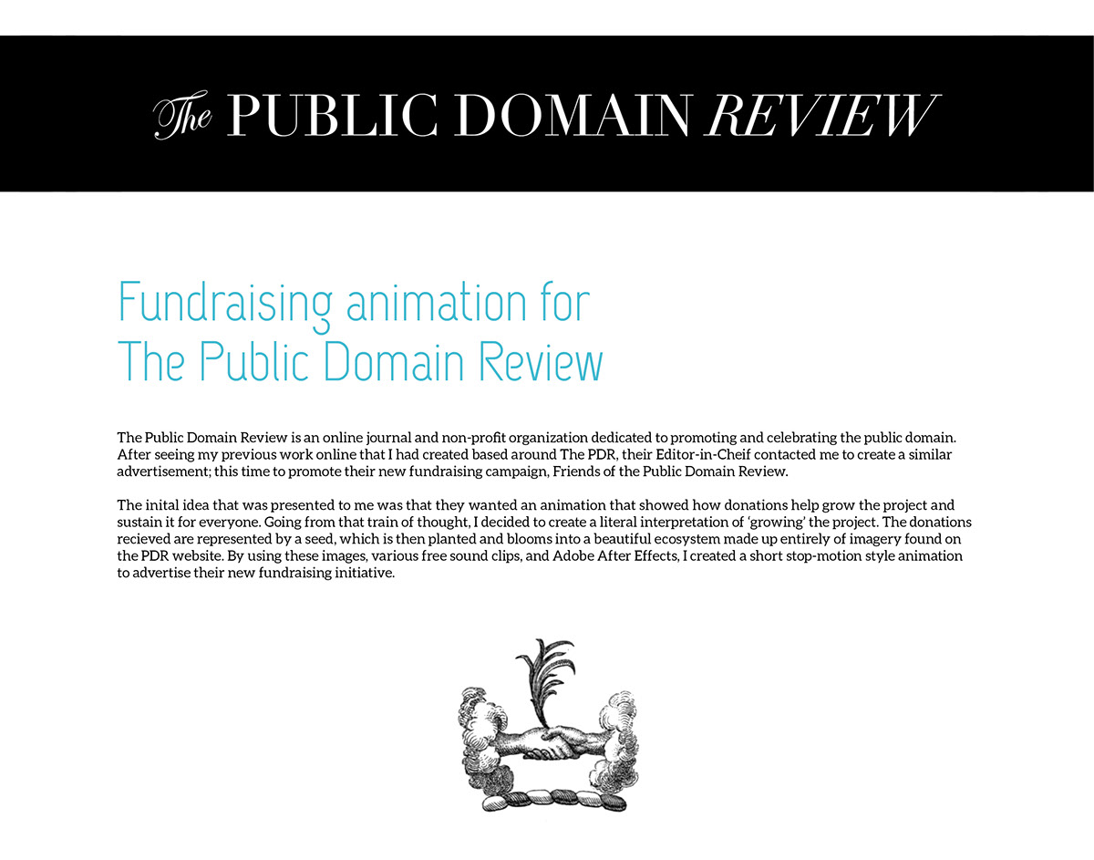 Friends Of The Public Domain Review Animation