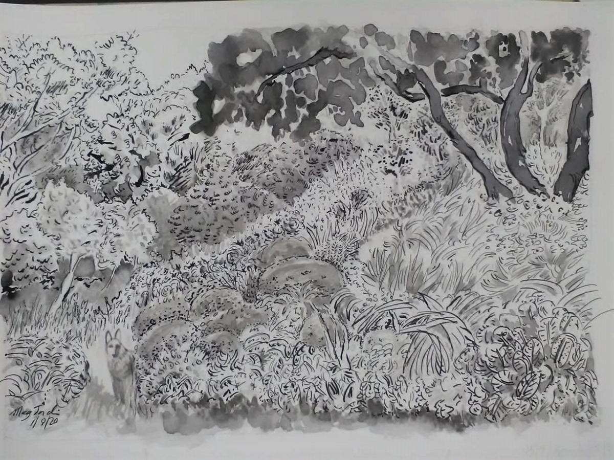 Image may contain: drawing and art